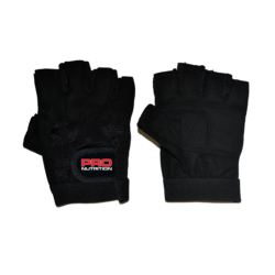 Pro Nutrition Black Leather Gloves