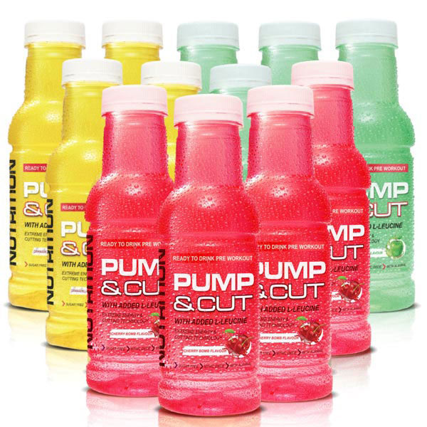 Pro Nutrition Pump-and-Cut-RTD-Pre-workout12-mixed-flavours