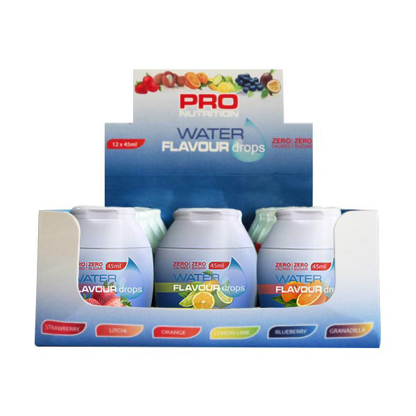 Pro Nutrition Water-Flavour-Drops-12-pack